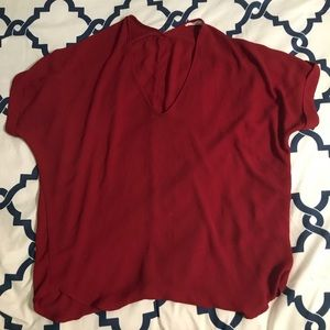 LUSH slouch top in Red